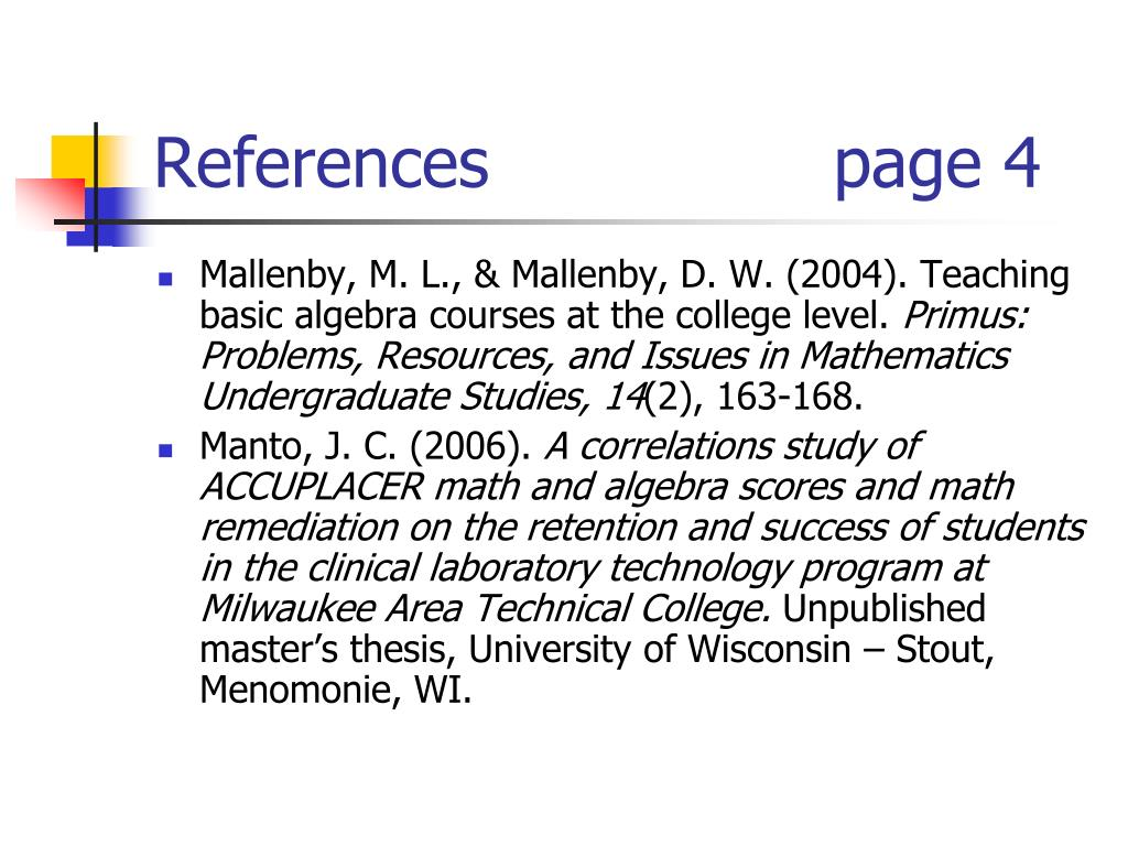 References                page 4