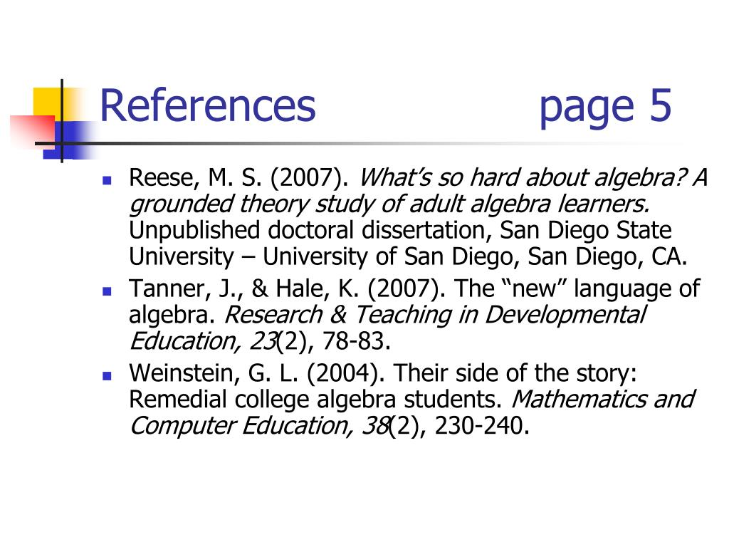 References                page 5