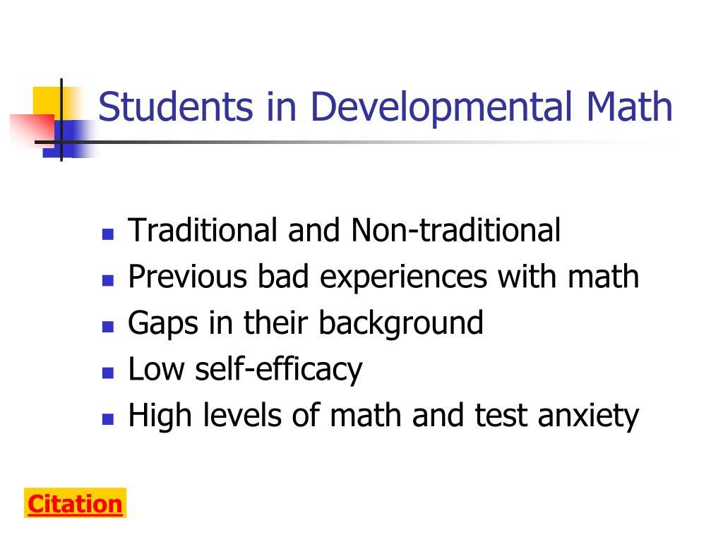 Students in Developmental Math