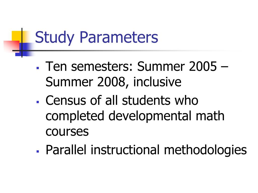 Study Parameters