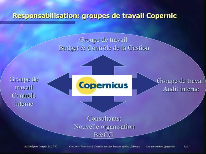 Responsabilisation: groupes de travail Copernic