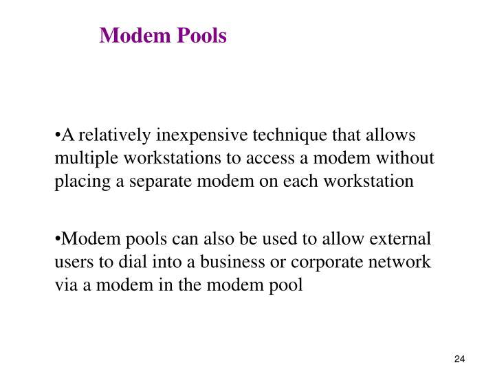 Modem Pools