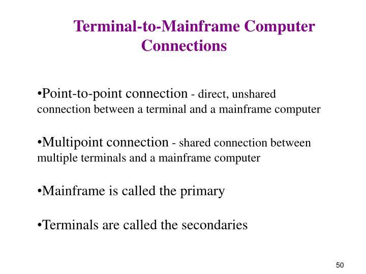 Terminal-to-Mainframe Computer