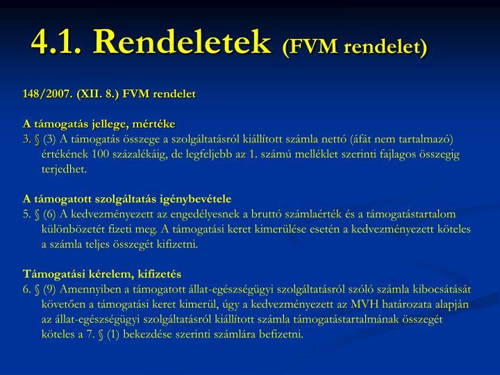 148/2007. (XII. 8.) FVM rendelet