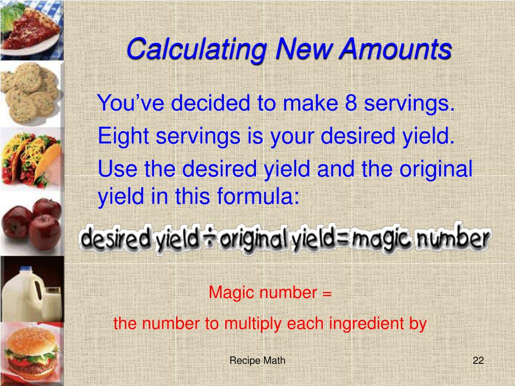 Calculating New Amounts