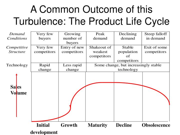 A Common Outcome of this Turbulence: The Product Life Cycle