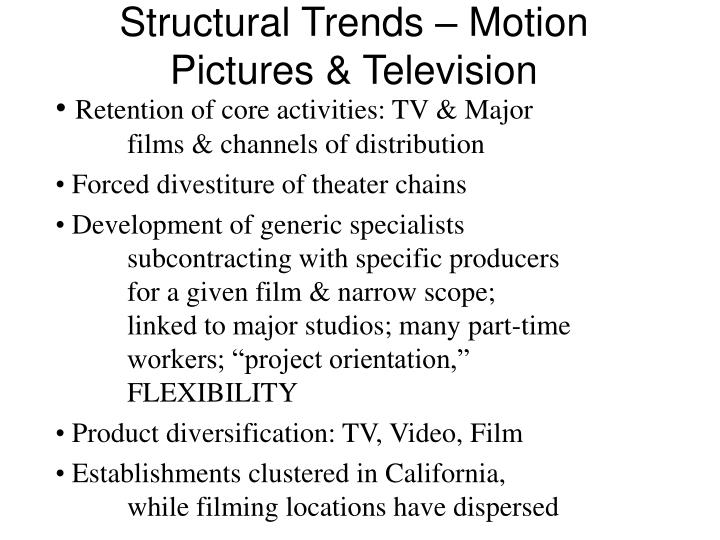 Structural Trends – Motion Pictures & Television