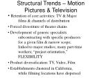 structural trends motion pictures television