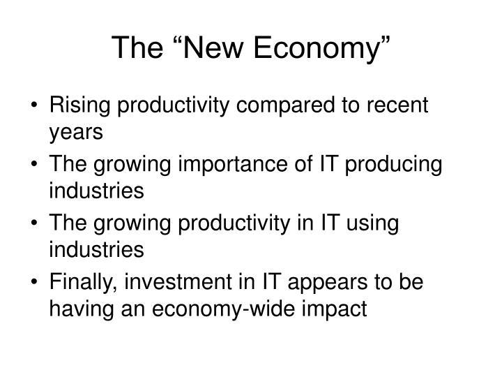 """The """"New Economy"""""""