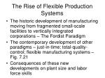 the rise of flexible production systems