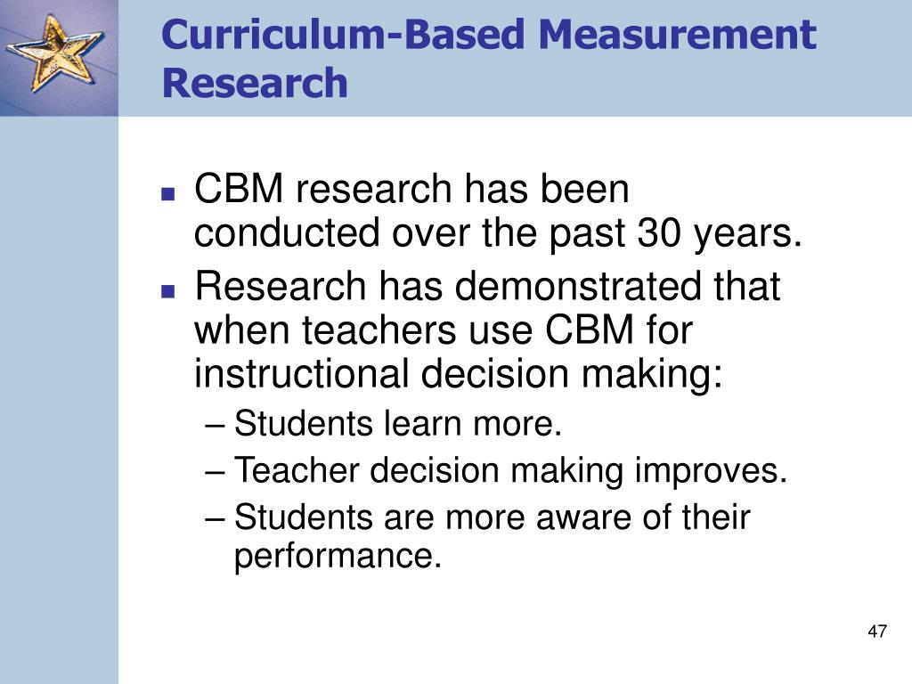 Curriculum-Based Measurement Research