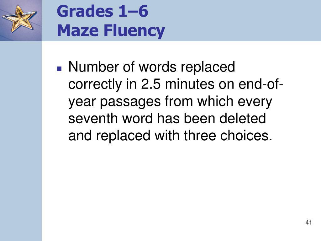 Grades 1–6