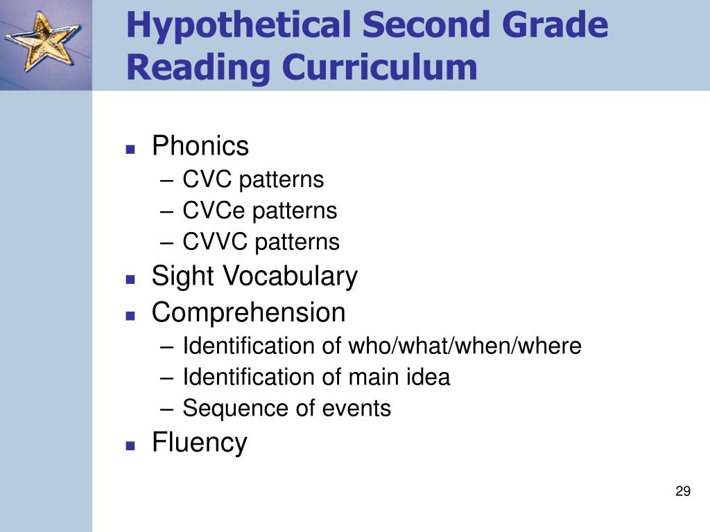 Hypothetical Second Grade