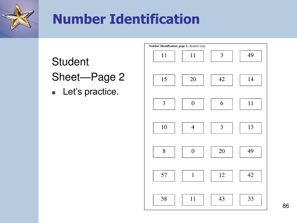 Number Identification