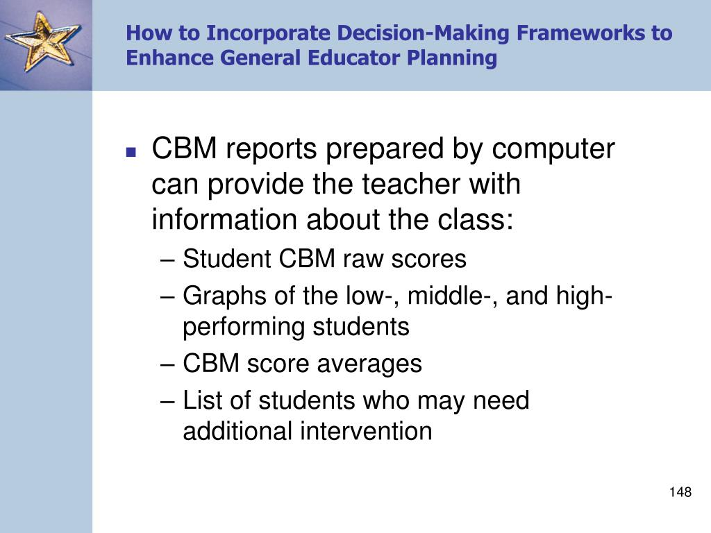 How to Incorporate Decision-Making Frameworks to Enhance General Educator Planning
