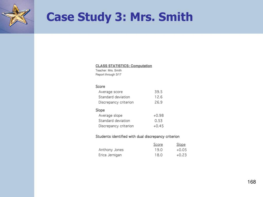 Case Study 3: Mrs. Smith