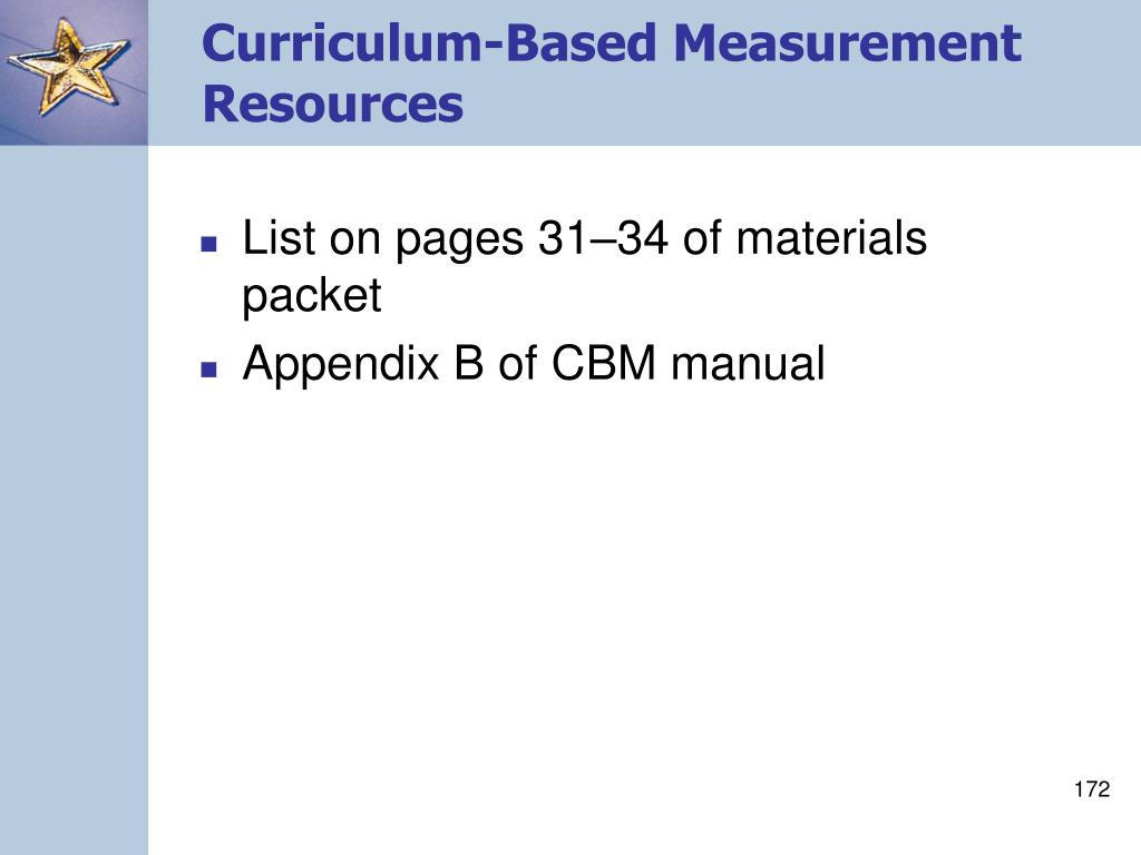 Curriculum-Based Measurement Resources