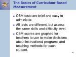 the basics of curriculum based measurement46