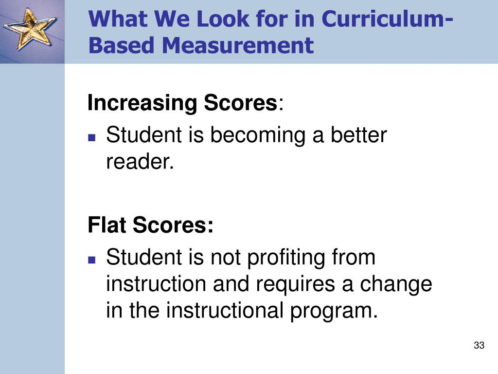 What We Look for in Curriculum-Based Measurement