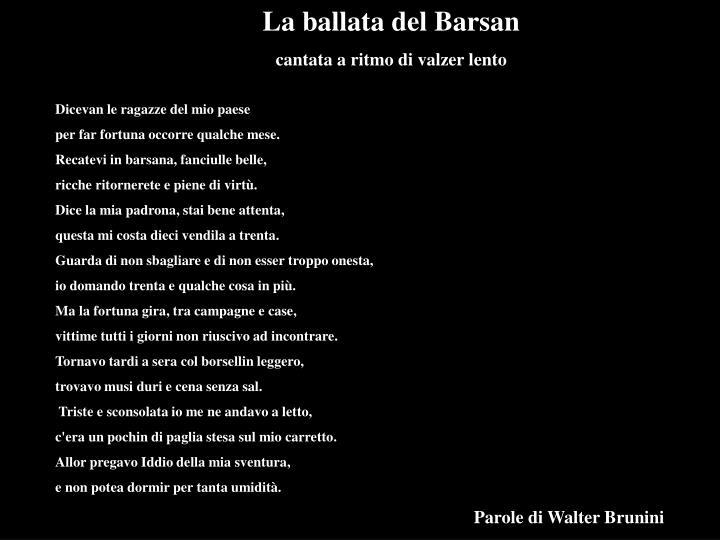 La ballata del Barsan