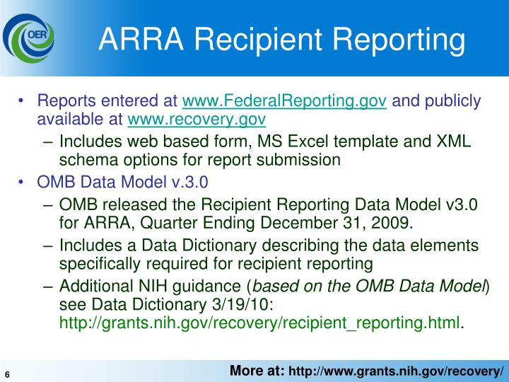 ARRA Recipient Reporting