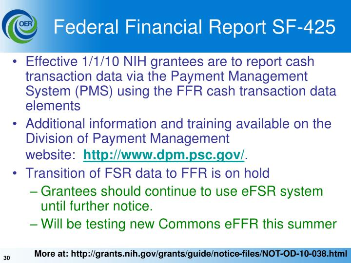 Federal Financial Report SF-425