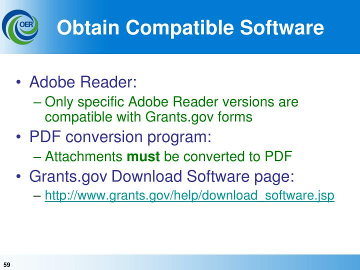 Obtain Compatible Software