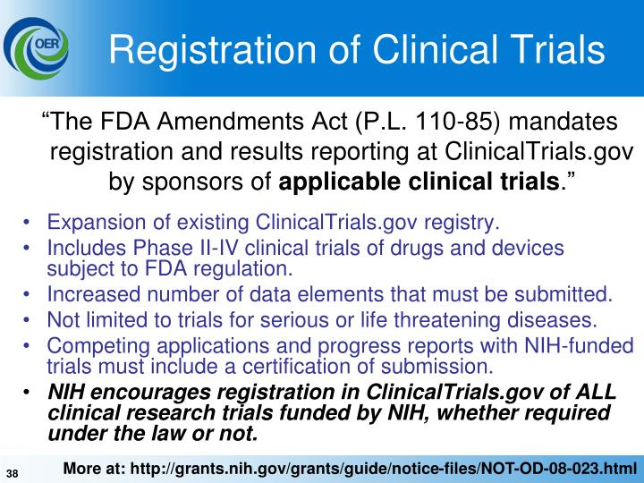 Registration of Clinical Trials