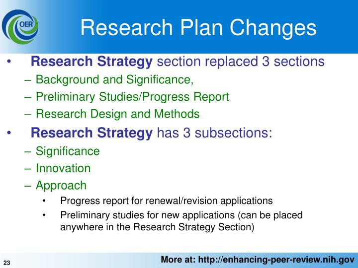 Research Plan Changes