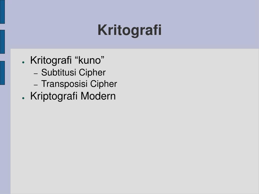 Kritografi