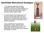 identifiable motivational strategies19