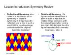 lesson introduction symmetry review