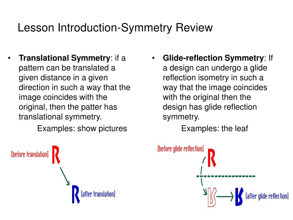 Translational Symmetry