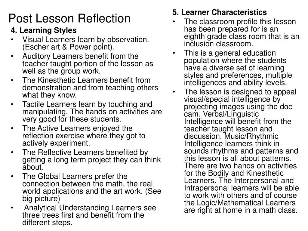 4. Learning Styles
