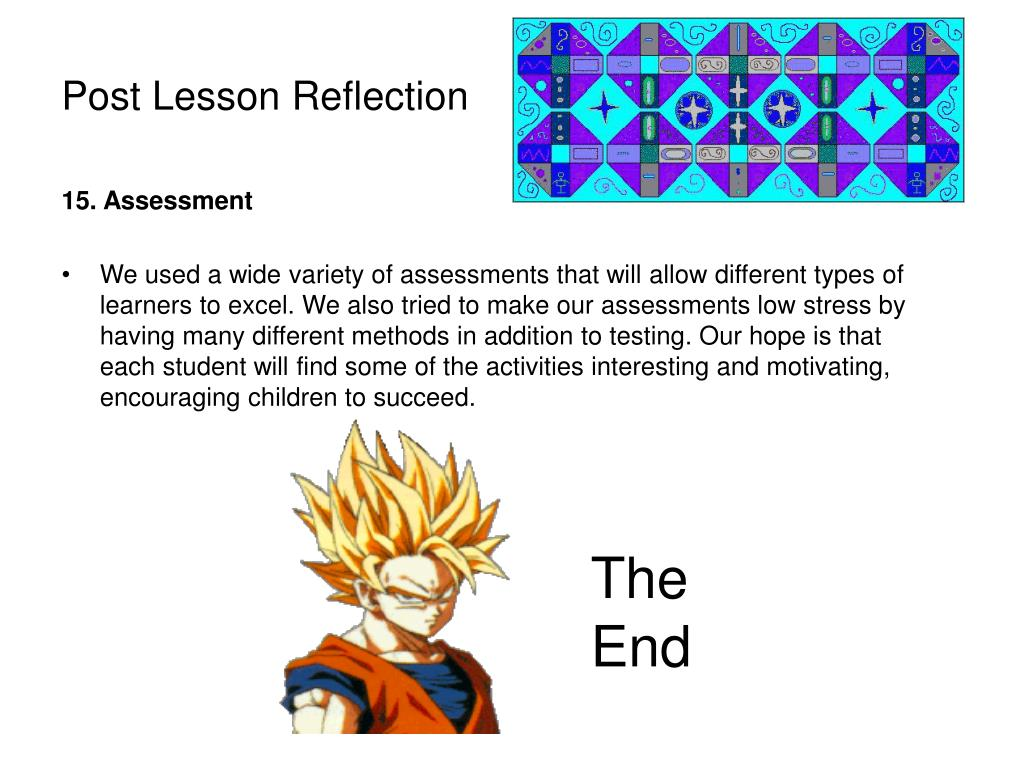 Post Lesson Reflection