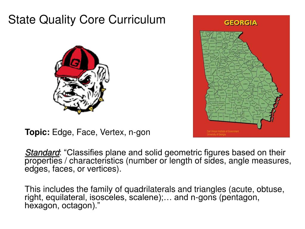 State Quality Core Curriculum