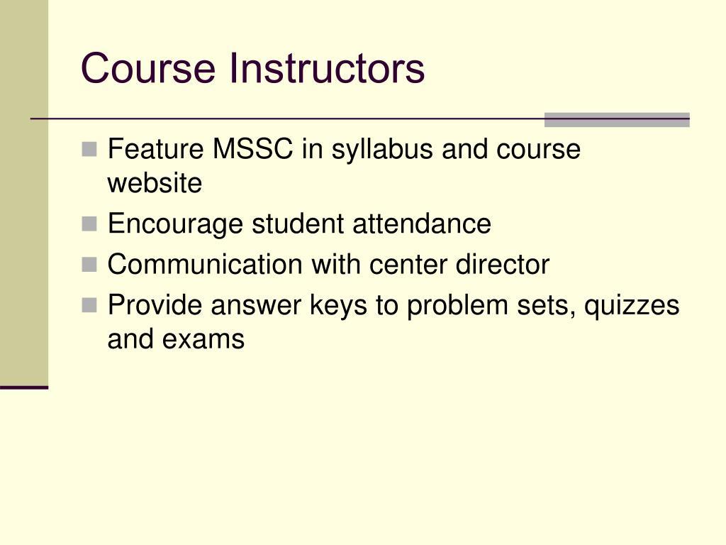 Course Instructors