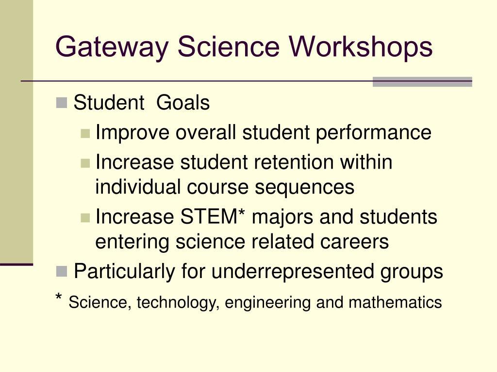 Gateway Science Workshops