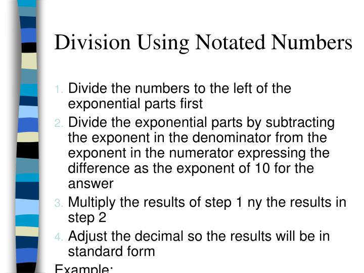 Division Using Notated Numbers