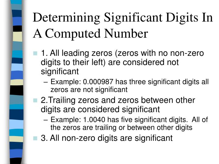 Determining Significant Digits In A Computed Number