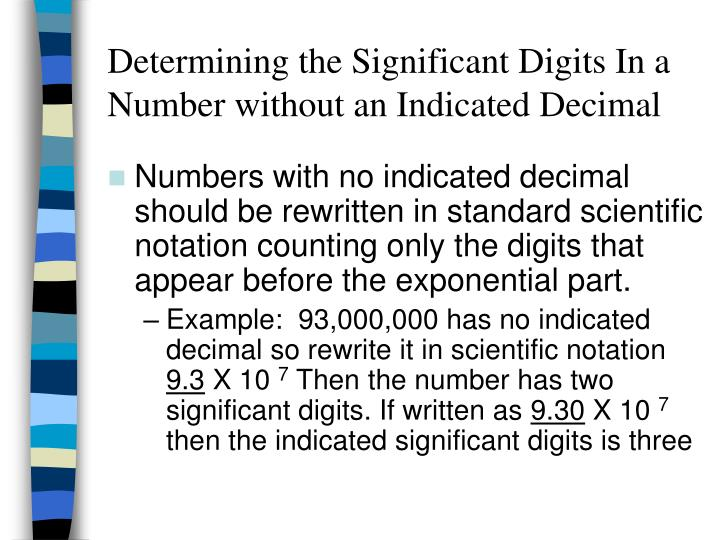 Determining the Significant Digits In a Number without an Indicated Decimal