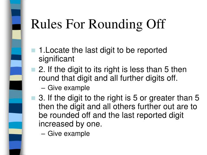 Rules For Rounding Off