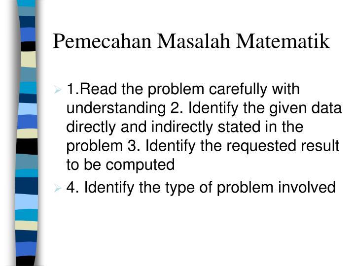 Pemecahan Masalah Matematik