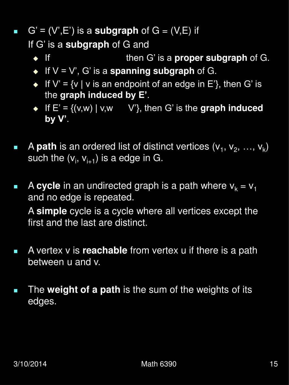 G' = (V',E') is a