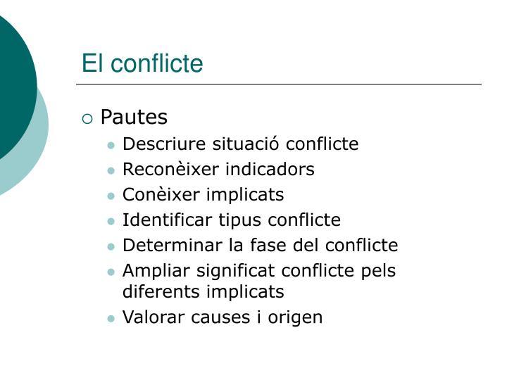 El conflicte