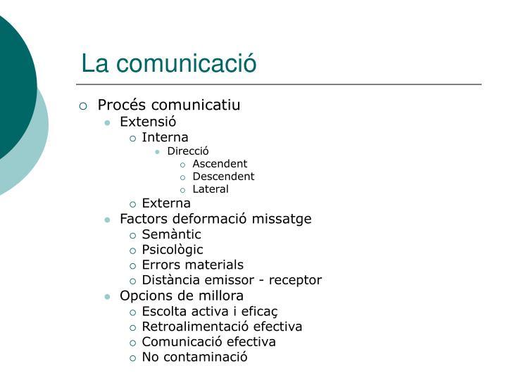 La comunicació