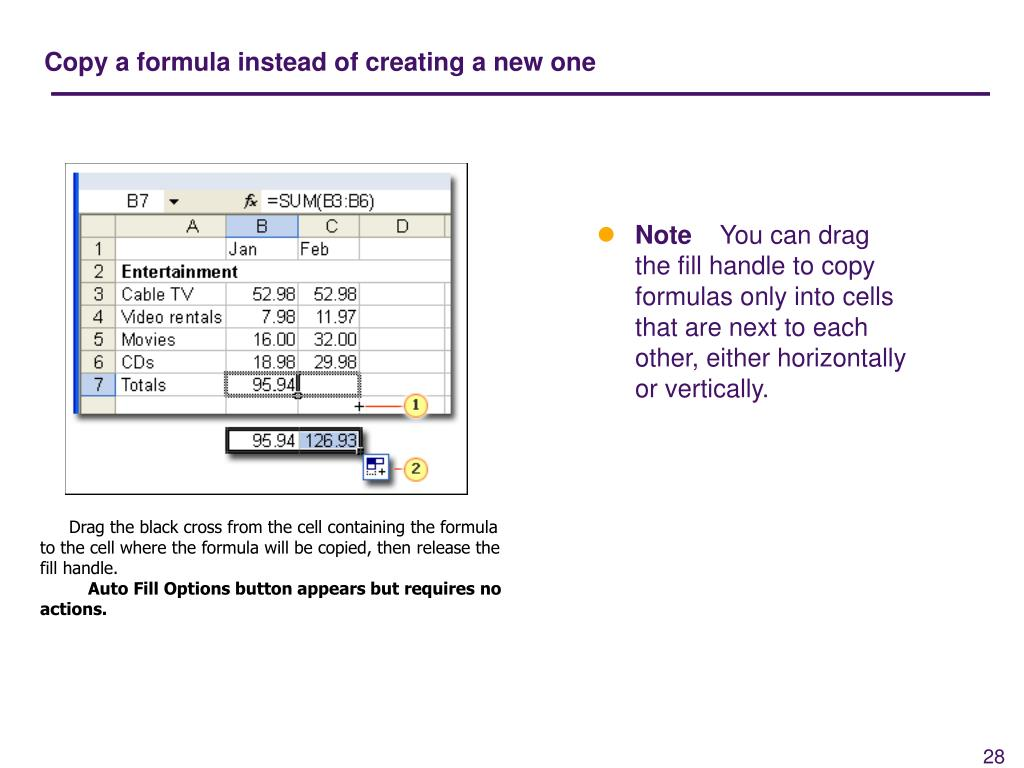 Copy a formula instead of creating a new one