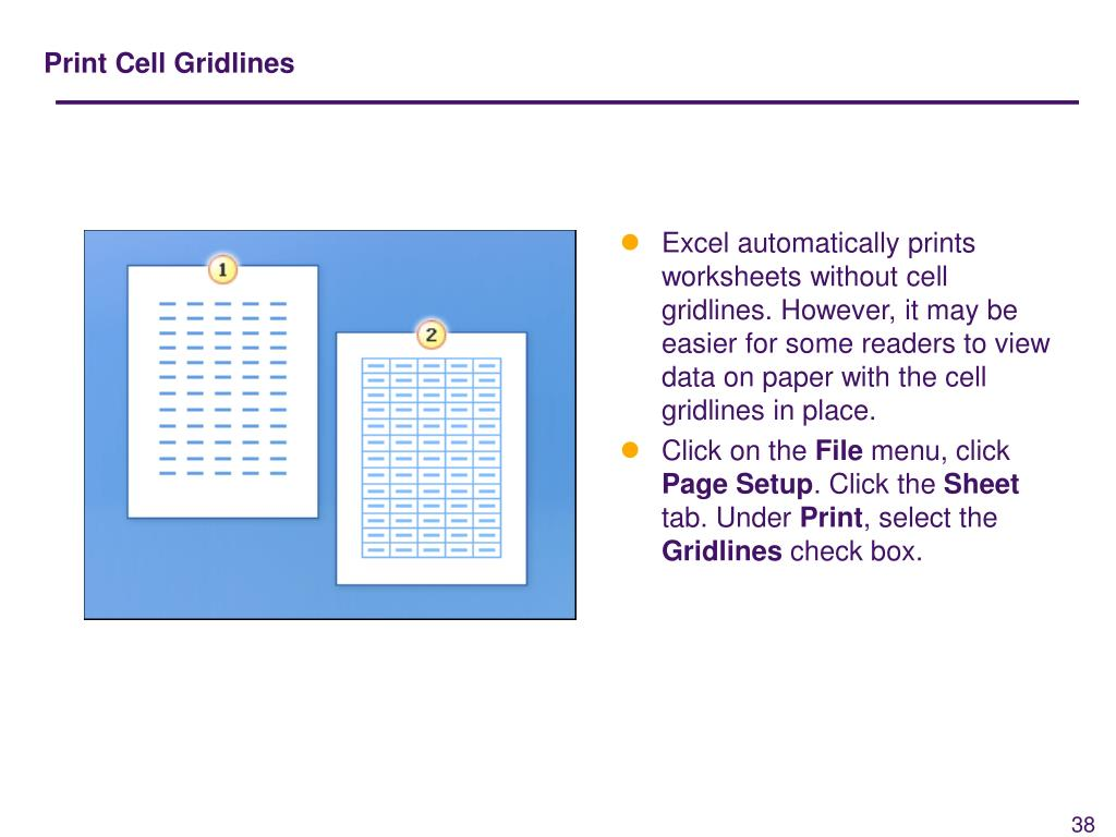 Print Cell Gridlines