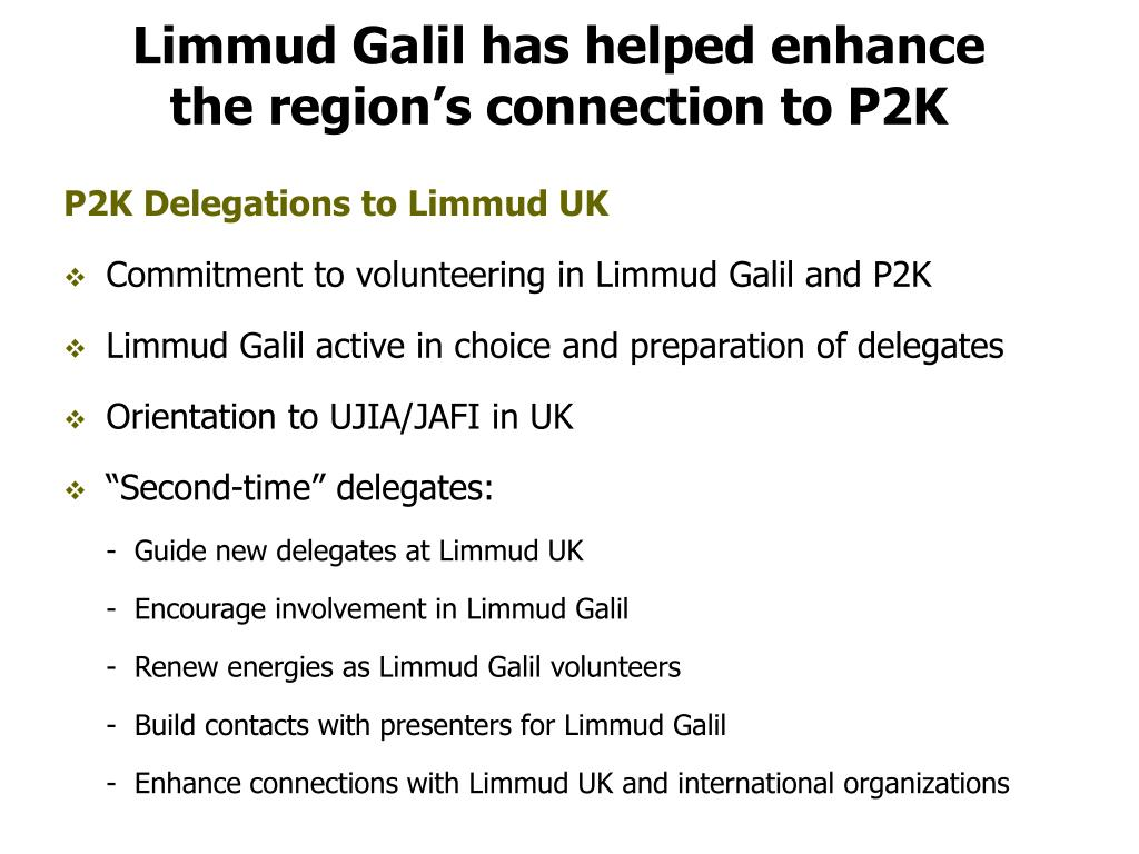 Limmud Galil has helped enhance