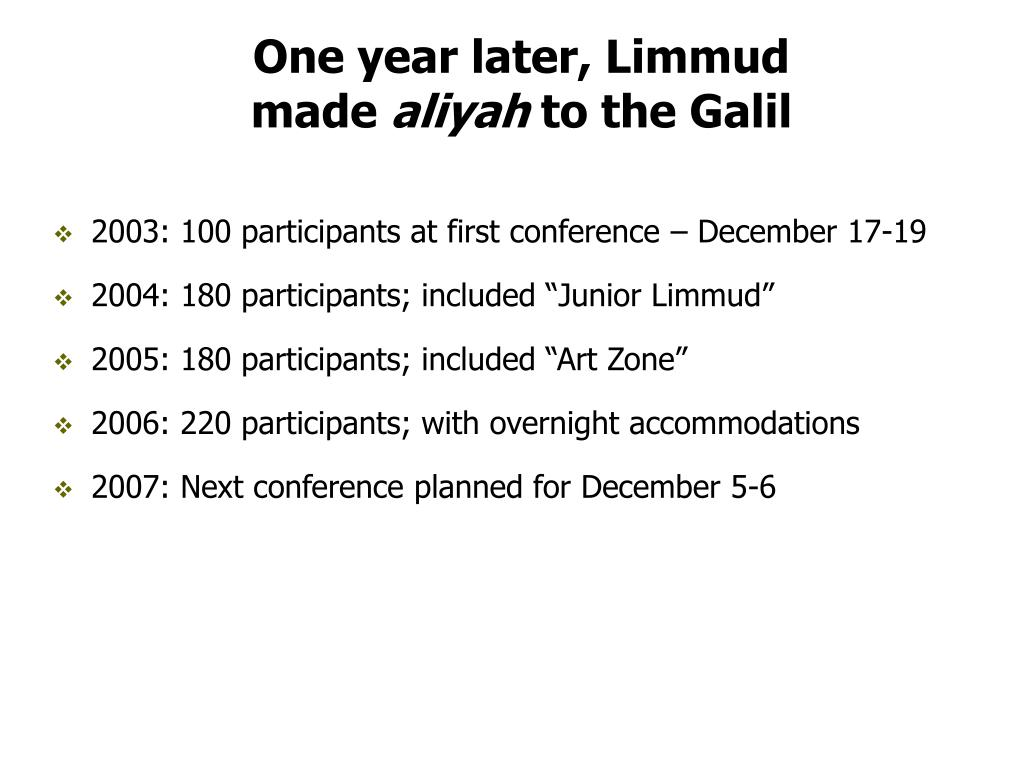 One year later, Limmud